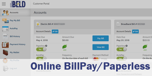 Link to our BillPay/Paperless